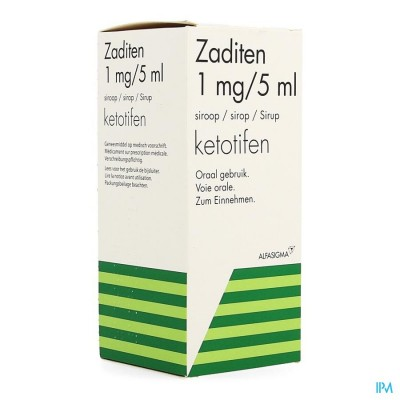 ZADITEN SIR 1 X 200 ML 1 MG/5 ML