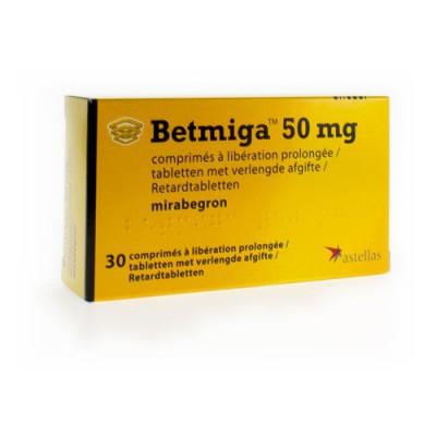 BETMIGA TABL 30 X 50 MG