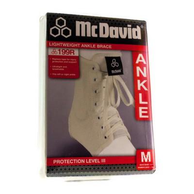 MCDAVID LIGHTWEIGHT ANKLE BRACE WHITE M 199