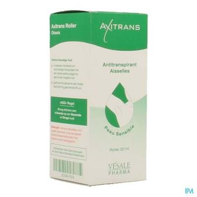 AXITRANS ROLLER GEVOELIGE HUID A/TRANSPIRANT 20ML