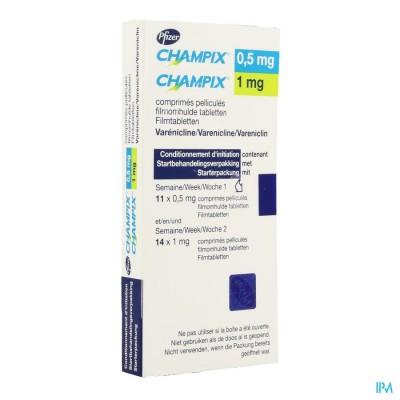 Champix Comp 11 (0,5mg) + 14 (1mg)