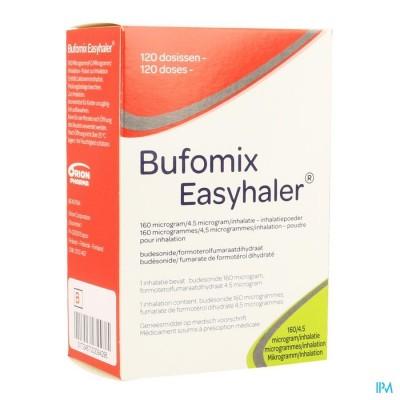Bufomix 160mcg 4,5mcg Easyhaler Inhal Pdr Dos 120