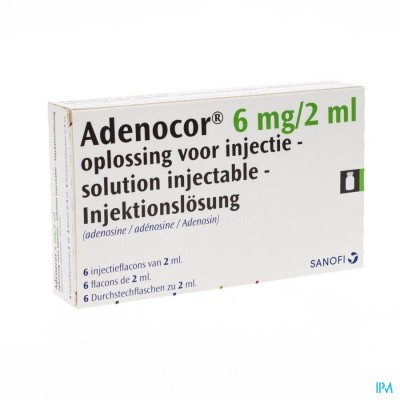 ADENOCOR AMP IV 6X2ML 3MG/ML