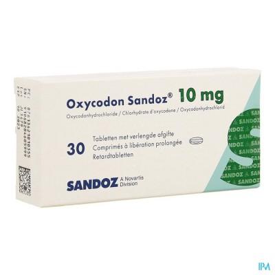 OXYCODON 10 MG SANDOZ COMP PROL 30 X 10 MG