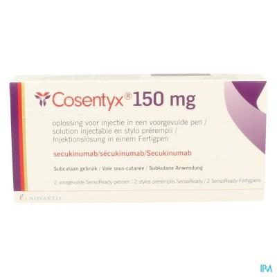 COSENTYX 150MG/ML OPL INJ VOORGEV.PEN 2 X 1ML