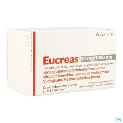 Eucreas 50mg/1000mg Filmomh Tabl 60