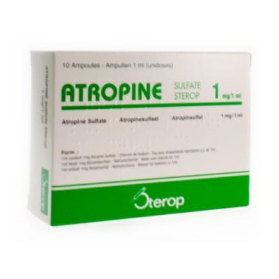 ATROPINE SULF AMP 10 X 1 X 1MG/1ML UD
