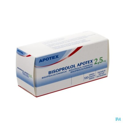 BISOPROLOL APOTEX 2,5 MG TABL 100