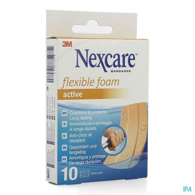 Nexcare 3m Flexible Foam Active Ha Pleist.strip 10