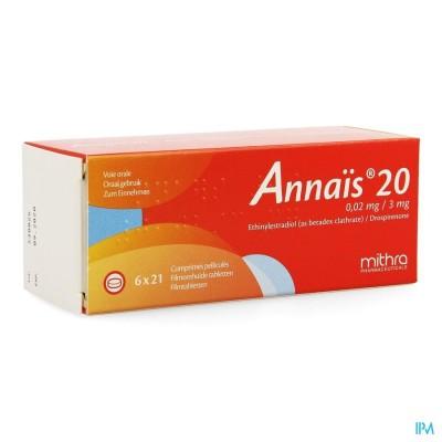 Annais 20 0,02mg/3mg Filmomh Tabl 6 X 21
