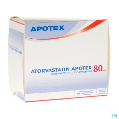 Atorvastatin Apotex 80mg Filmomh Tabl 98 X 80mg