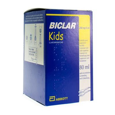 BICLAR 250 KIDS GRAN SUSP 250MG/5ML