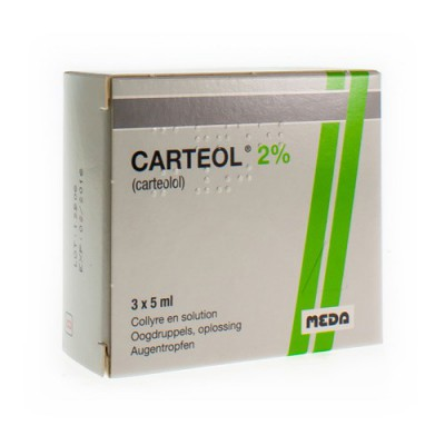 CARTEOL COLLYRE 2% 3 X 5 ML