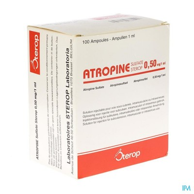 ATROPINE SULF STEROP AMP 100 X 0,50MG/1ML