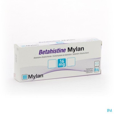 BETAHISTINE MYLAN 16 MG COMP 84 X 16 MG