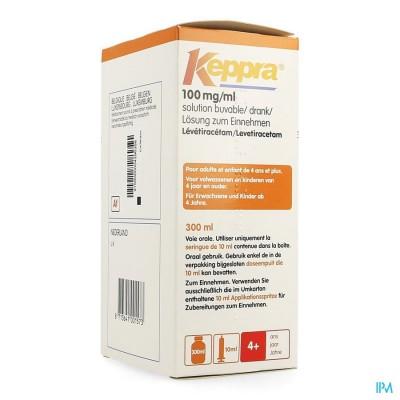 KEPPRA SOL PER OS 100MG/1ML 300ML
