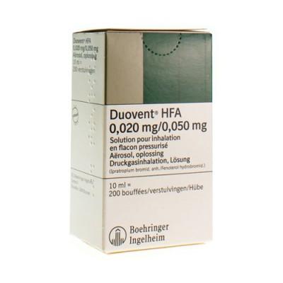 DUOVENT HFA AERO DOS 10 ML (200)