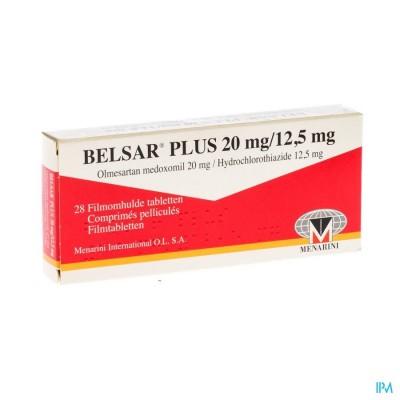 BELSAR PLUS 20 MG/12,5 MG FILMOMH TABL 28