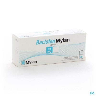 Baclofen Mylan Comp 50x10mg