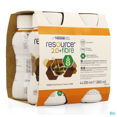 Resource 2.0 Fibre Koffie 4x200ml 12100790