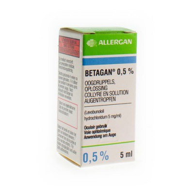 BETAGAN COLLYRE 1 X 5 ML 0,50%