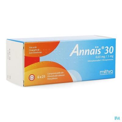 Annais 30 0,03mg/3mg Filmomh Tabl 6 X 21