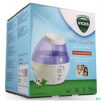 Vicks Mini Cool Mist Luchtbevocht.ultrasoon Mini