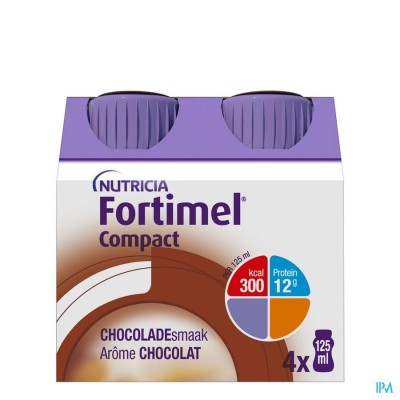 Fortimel Compact Chocolade Flesjes 4x125 ml