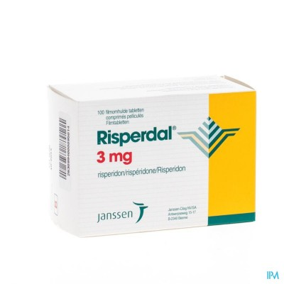 Risperdal 3mg Pi Pharma Comp 100 X 3mg Pip
