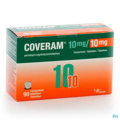 Coveram 10mg/10mg Comp 90