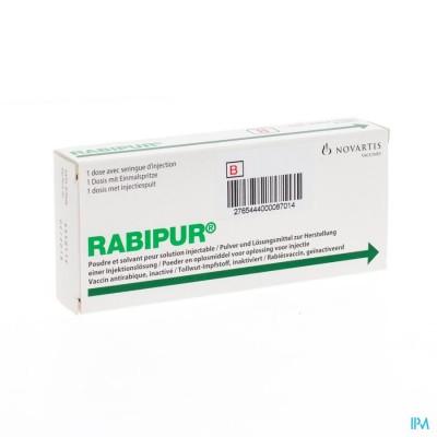 Rabipur Pdr+solv Vr Opl Vr Inj. Voorgev.spuit 1x1d