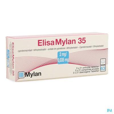 Elisamylan 35 2mg/0,035mg Tabl 3 X 21