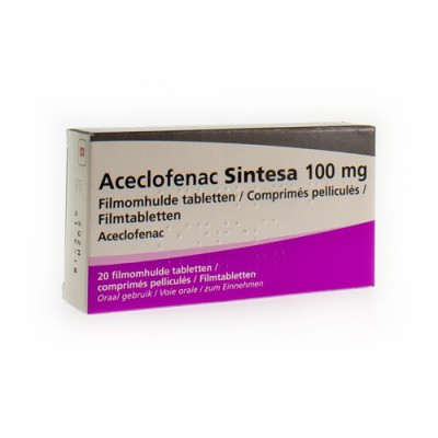 ACECLOFENAC SINTESA 100MG COMP 20 X 100 MG