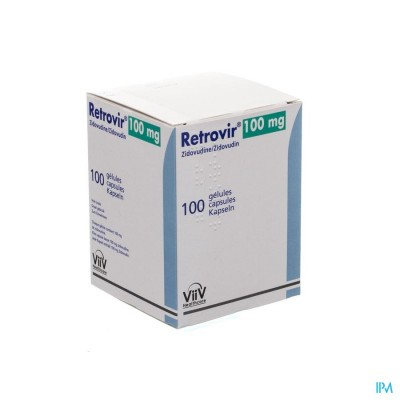 RETROVIR CAPS 100 X 100 MG