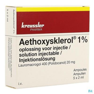Aethoxysklerol Amp. 5 X 2ml 1 %