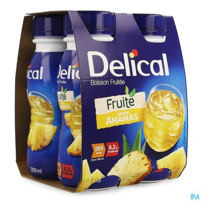 DELICAL FRUITDRINK ANANAS 4X200ML