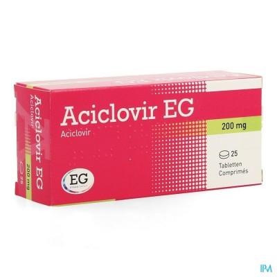 Aciclovir Eg 200 Comp 25 X 200mg