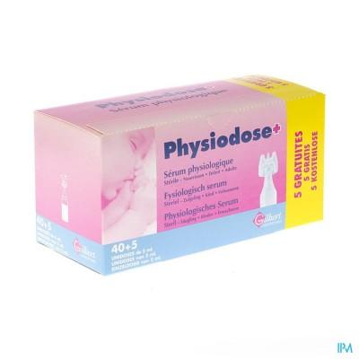 Physiodose Serum Fysio Ud Ster 40x5ml+5 Gratis