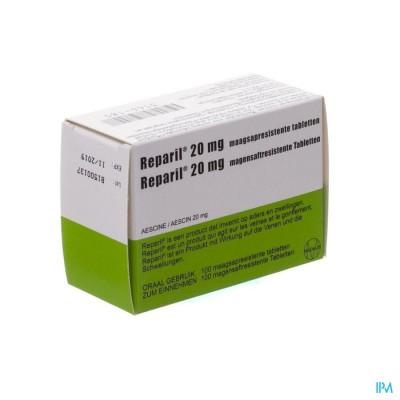 Reparil Impexeco 20mg Maagsapresist Comp 100 Pip