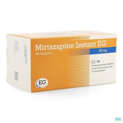 Mirtazapine Eg Instant 30mg Orodisp Tabl 100