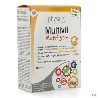 PHYSALIS MULTIVIT ACTIF 50+ COMP 30