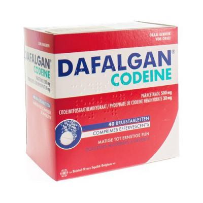 DAFALGAN CODEINE 500MG/30MG BRUISTABLETTEN 40