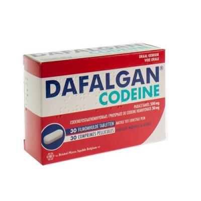 DAFALGAN CODEINE 500MG TABL 30
