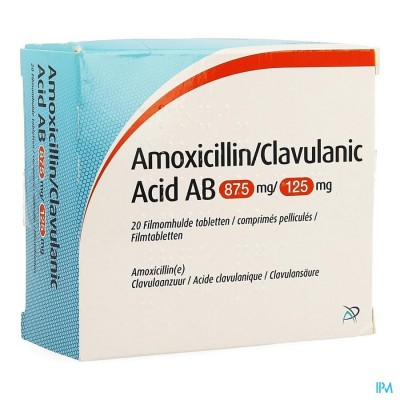 Amoxicillin Clavulanic Acid Ab 875mg/125mg Comp 20
