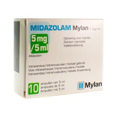 MIDAZOLAM MYLAN 5MG/5ML SOL INJ 10 ML 1MG/ML 10