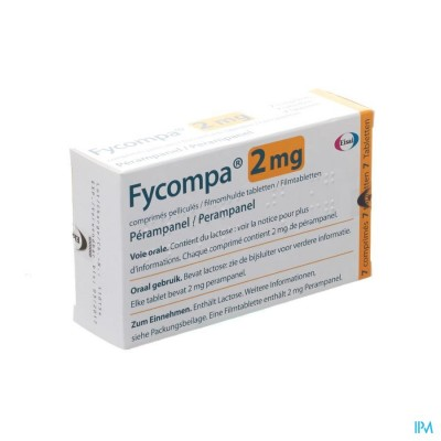 FYCOMPA 2 MG OMHULDE TABL 7 X 2 MG
