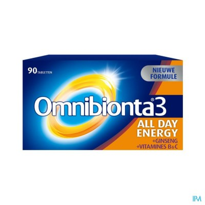 Omnibionta3 All Day Energy Multivitamines voor Energie (90 tabletten)