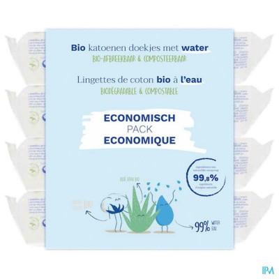 Mustela Bio Katoenen Doekjes Water 4x60 Promo