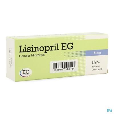 Lisinopril Eg Comp 56 X 5mg