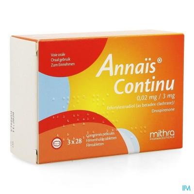 Annais Continu 3mg/0,020mg Filmomh Tabl 3 X 28